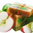 Handmade soap apple — Stock Photo