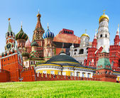 Collage of Red Square — Stock Photo