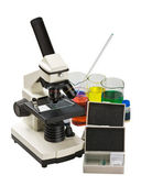 顕微鏡と研究のための機器 — ストック写真