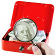 Money in a moneybox — Stock Photo