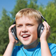 Royalty-Free Stock Photo: Boy listening to music