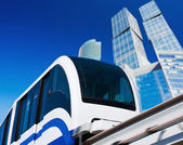 Modern monorail in the city — Foto de Stock