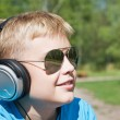 Boy listening to music — Stock Photo #6600219