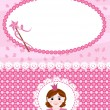 Invitation card with princess and wand. - Image vectorielle