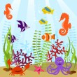 Royalty-Free Stock Vector Image: Sea life card