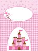 Princess card with Magic Castle — Stockvector