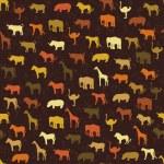 Safari pattern background — Stock Vector