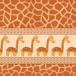 Seamless patterns with cute giraffe and giraffe skin. — Stock Vector #6049454
