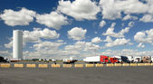 Trucks parking lot — Stock Photo