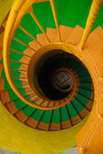 Spiral staircase in old lighthouse — Stock Photo