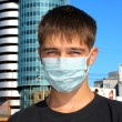 Stock Photo: Teenager in mask
