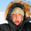 Boy in winter — Stock Photo