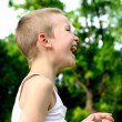 Stock Photo: Laughing kid