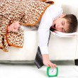 Stock Photo: Teenager sleeping