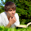 Teenager read book — Stock Photo