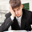 Tired student - Stock Photo