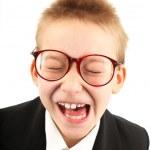 Funny schoolboy — Stock Photo #5738676