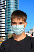 Teenager in mask — Stock Photo