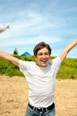 Happy teenager — Stock Photo
