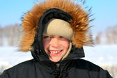 Boy in winter — Stock Photo