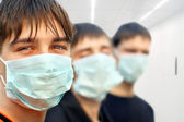 Teenagers in mask — Stock Photo