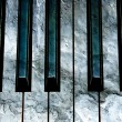 Concrete piano keys — Stock Photo