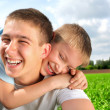 Happy brothers — Stock Photo
