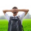 Teenager in the field — Stock Photo #6302907