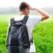 Teenager in the field - Stock Photo