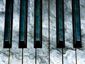 Concrete piano keys — Stock Photo