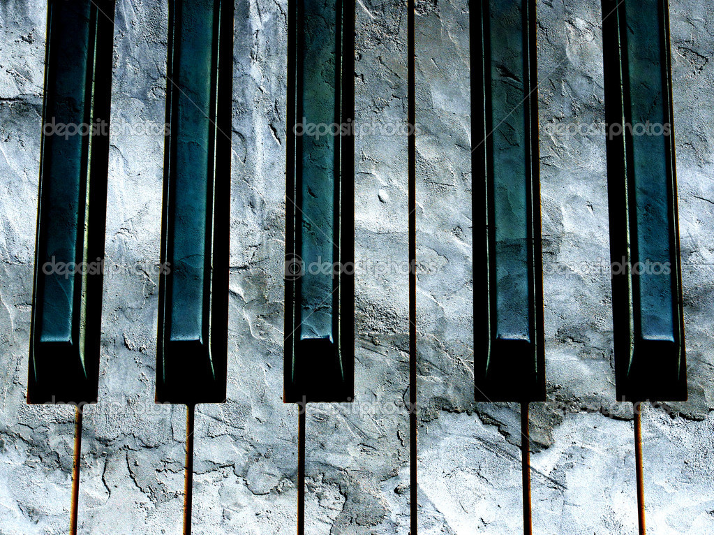 Concrete piano keyboard conceptual photo — Stock Photo #6301280