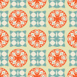 Vintage seamless background with circles and squares — Zdjęcie stockowe
