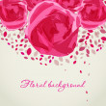 Pink roses, vintage floral background — Stock Photo