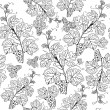 Stock Photo: Vintage seamless pattern with grape branch