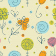 Foto Stock: Vintage flowers. Seamless pattern