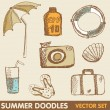 Summer holiday doodle collection - Stock fotografie
