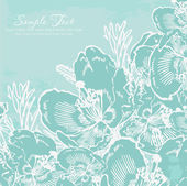 Vintage background with pastel flowers — Stock Photo