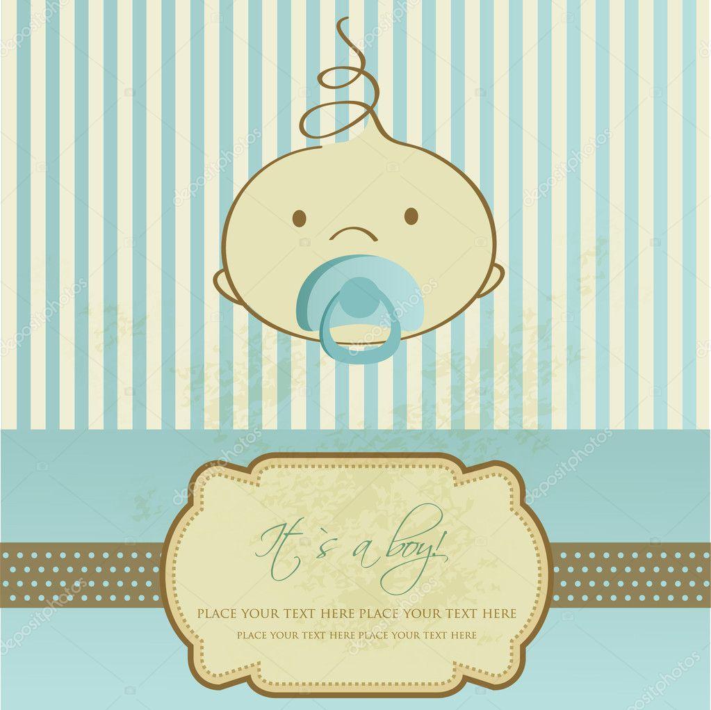 Vintage baby announcement card Photo mcherevan 5668027 – Vintage Baby Announcements