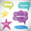 Colorful vector speech bubbles for your text - Stock Photo