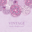 Stock Photo: Vintage background with pastel flowers