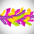 Stock Photo: Abstract colorful wave from arrows
