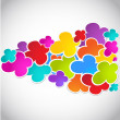 Colorful vector speech bubbles for your text - Foto Stock