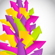 Abstract colorful wave from arrows — Stock Photo