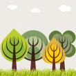 Four season trees concept — Stock Photo