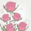 Floral background with pink roses — Stock Photo