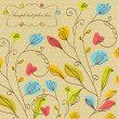 Vintage floral background with multicolored flowers — Stock Photo