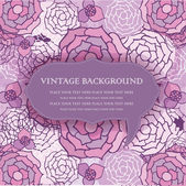 Vintage floral background with violet flowers — Stock Photo