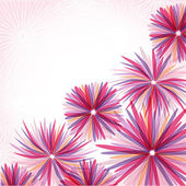 Abstract pink flowers — Stock Photo