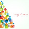 Vintage greeting card with abstract christmas tree — Stock Photo