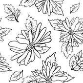 Vintage floral background with hand drawn flowers — Stock Photo